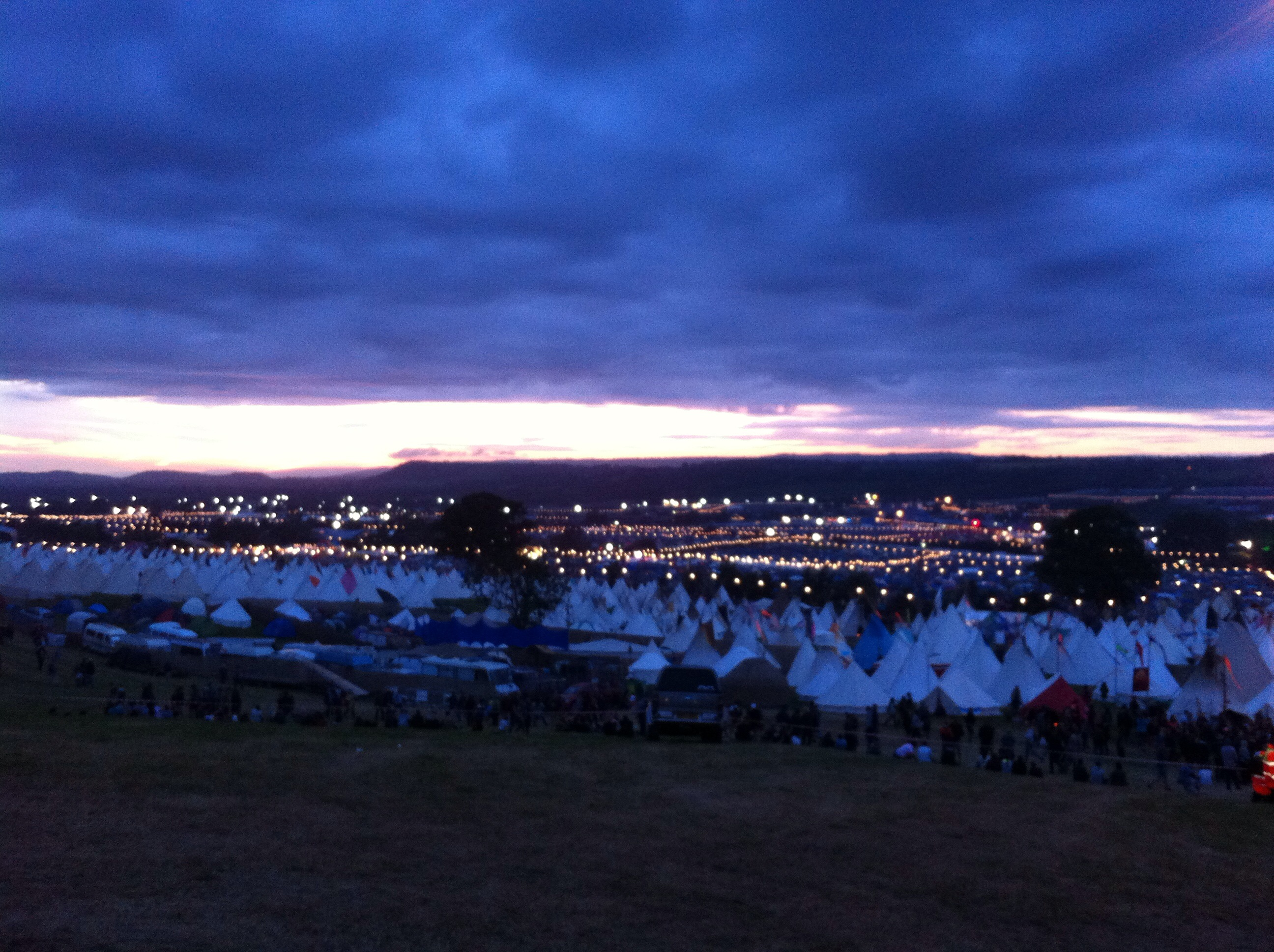 Walking back up toward Worthy View the Tipi Field offered temptations to stay out longer with live music being played in some of the tents. & Bursting My Glastonbury Bubble! u2013 The Messy Cook Travels